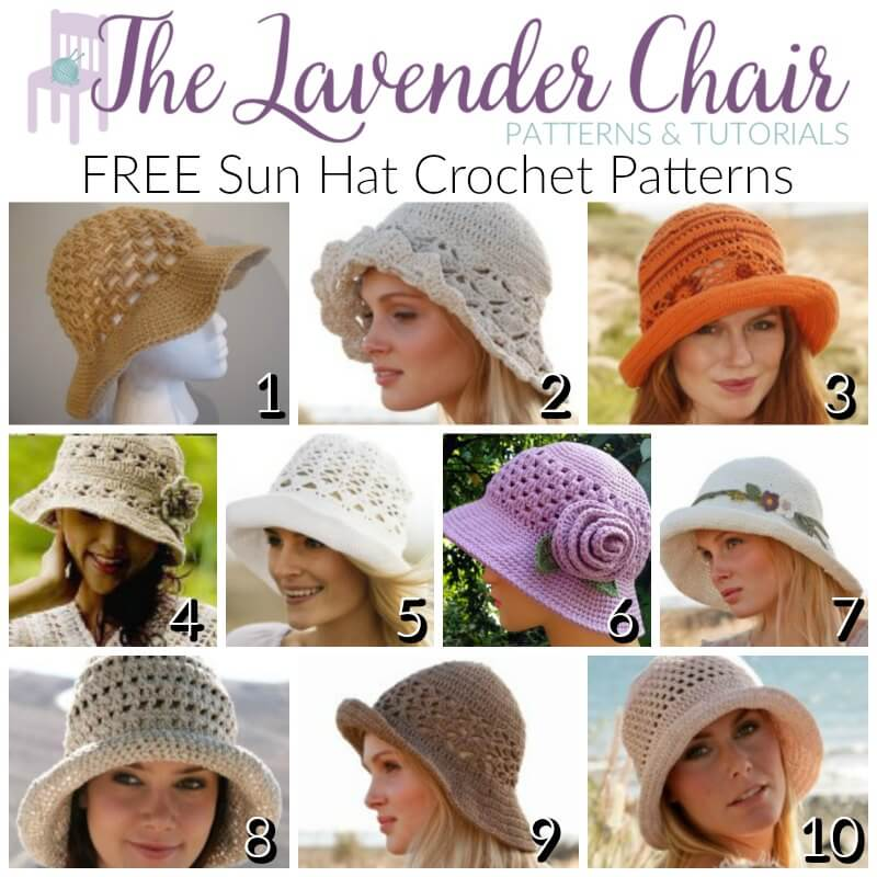Free Crochet Summer Hat Patterns For Adults : FREE Sun Hat Crochet Patterns For Adults - The Lavender Chair