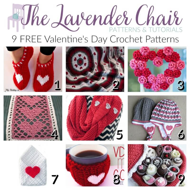 Free Valentines Day Crochet Patterns - The Lavender Chair