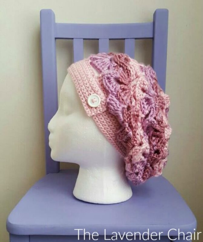 Sally's Slouchy Beanie Side - Free Crochet Pattern - The Lavender Chair