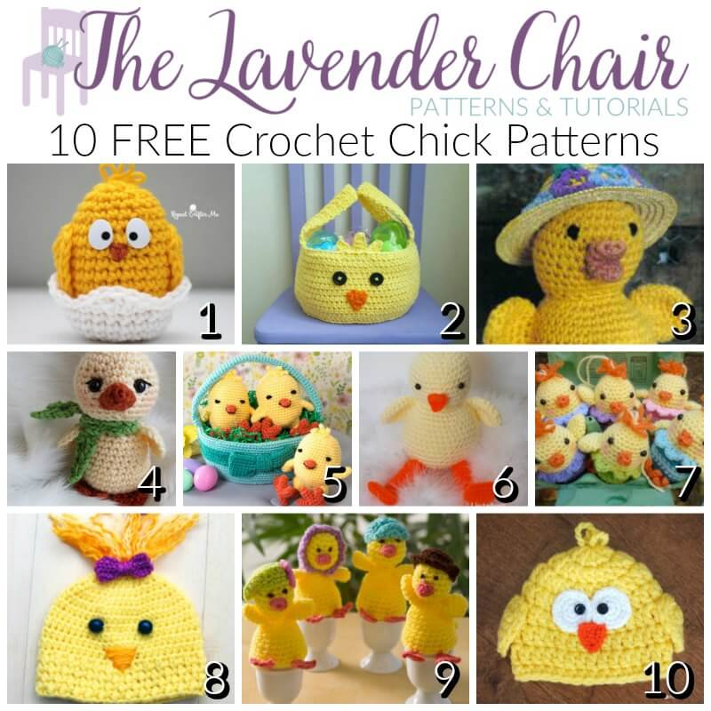 Free Crochet Pattern Easter Chick : FREE Crochet Chick Patterns - The Lavender Chair