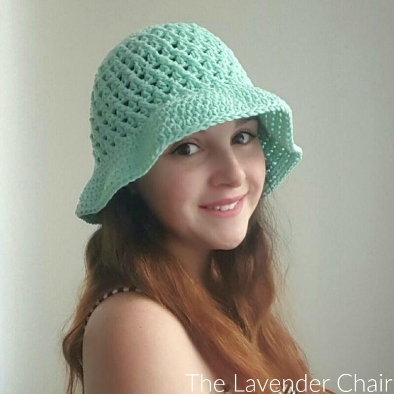 Crochet Hat Pattern Single Crochet : Crossed Double Crochet Sun Hat (Adult) Crochet Pattern ...