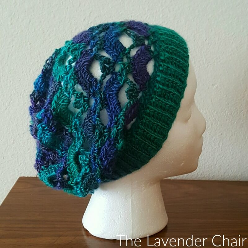 Free Crochet Pattern For Lace Beanie : Gemstone Lace Slouchy Beanie Crochet Pattern - The ...