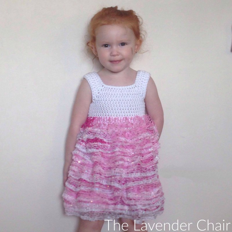 Sashay Ruffle Dress - Free Crochet Pattern - The Lavender Chair