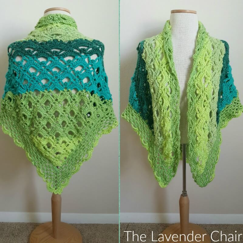 Crochet Patterns Caron Cakes : Gemstone Lace Shawl - The Lavender Chair