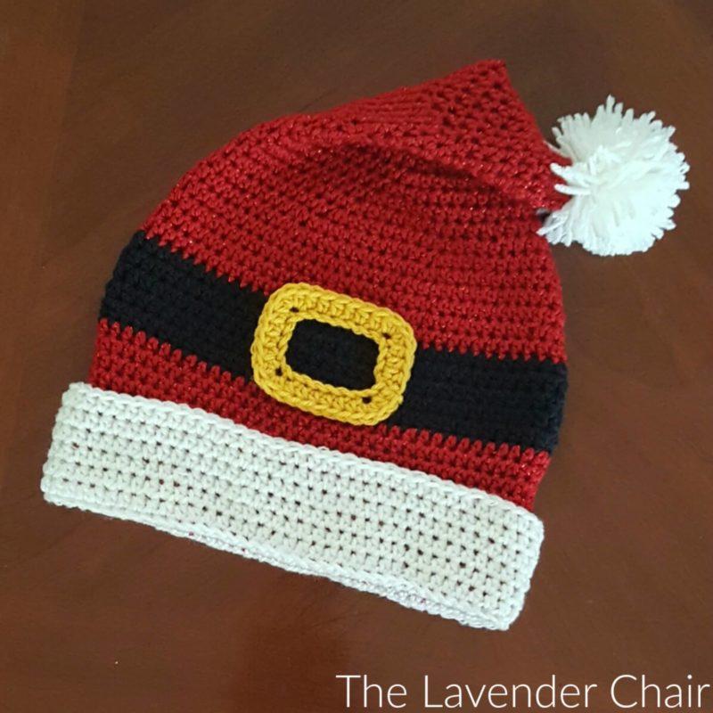 Free Crochet Pattern For Santa Hat : Santa Hat Crochet Pattern - The Lavender Chair