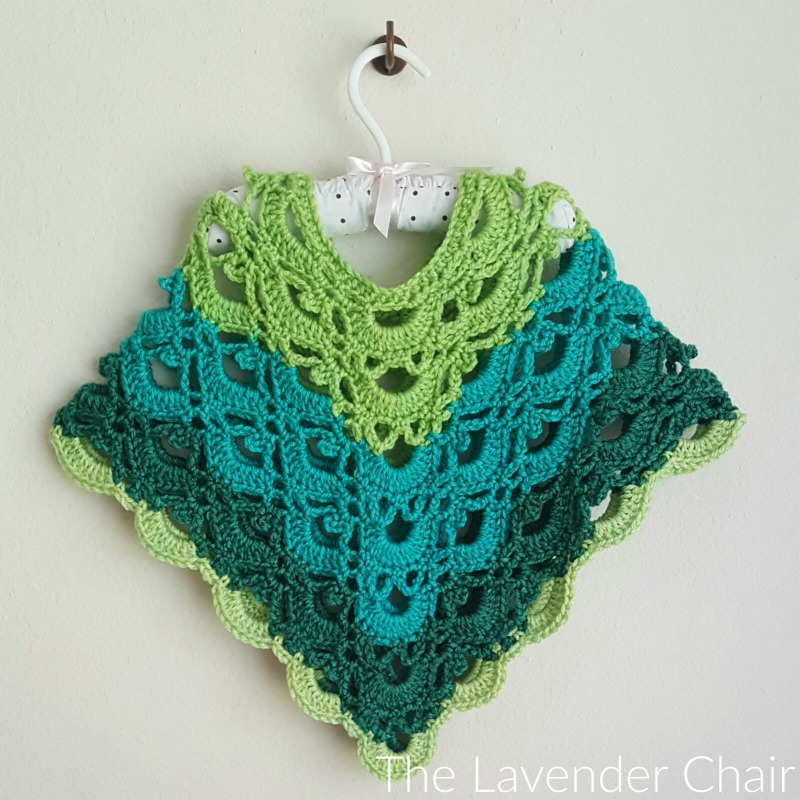 Free Crochet Patterns Toddlers Poncho : Gemstone Lace Poncho (Toddler/Child) Crochet Pattern - The ...