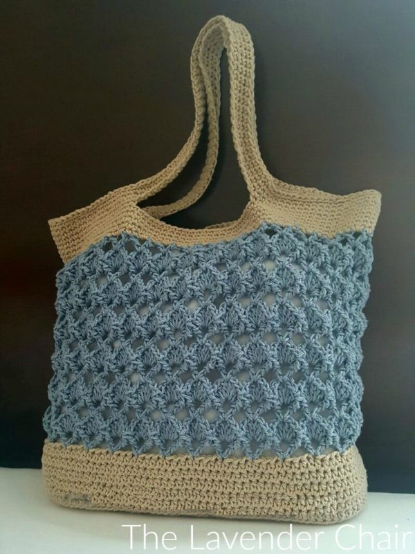 Sensu Fan Market Tote Crochet Pattern - The Lavender Chair
