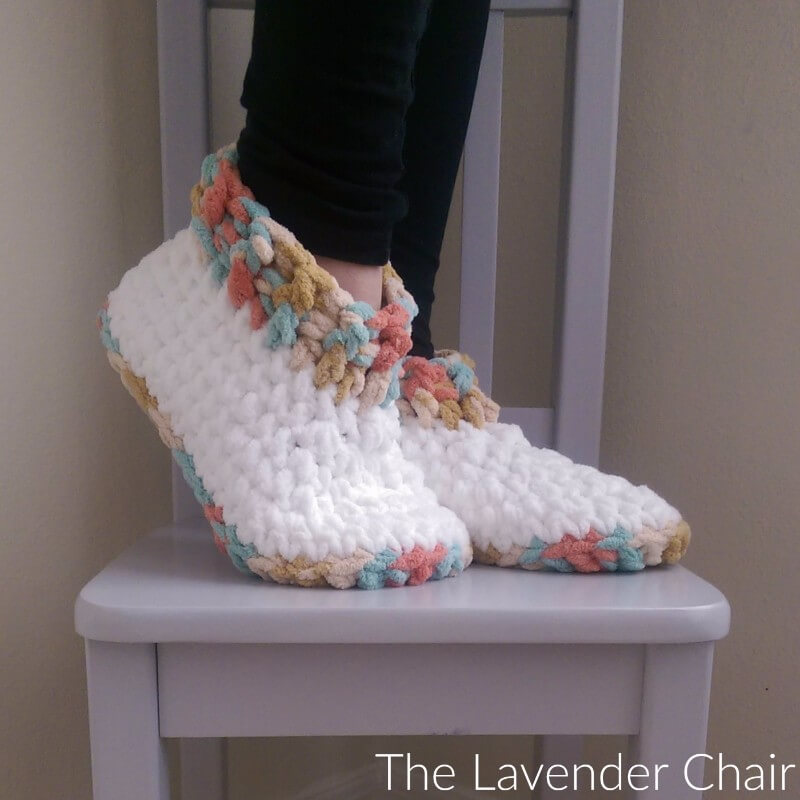 Cloud 9 Slippers - Free Crochet Pattern - The Lavender Chair