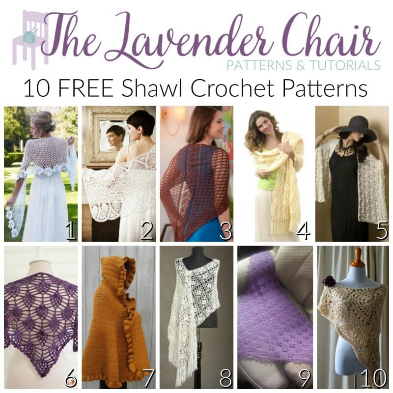 Free Shawl Crochet Patterns - The Lavender Chair