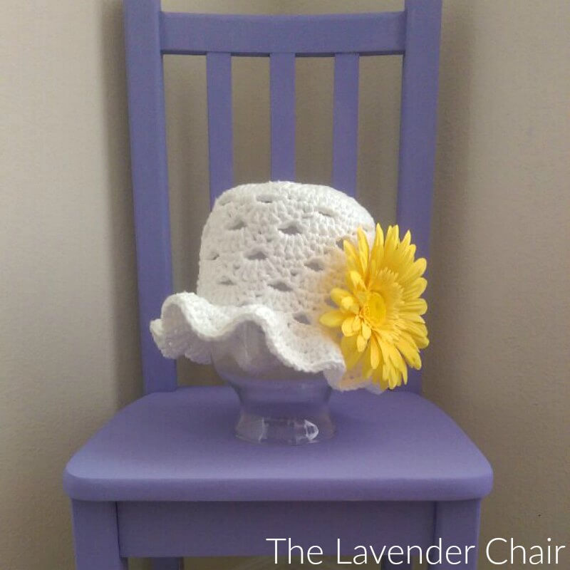 Stacked Shells Baby Sun Hat - Free Crochet Pattern - The Lavender Chair