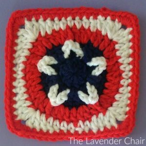 Stars and Stripes Square Crochet Pattern