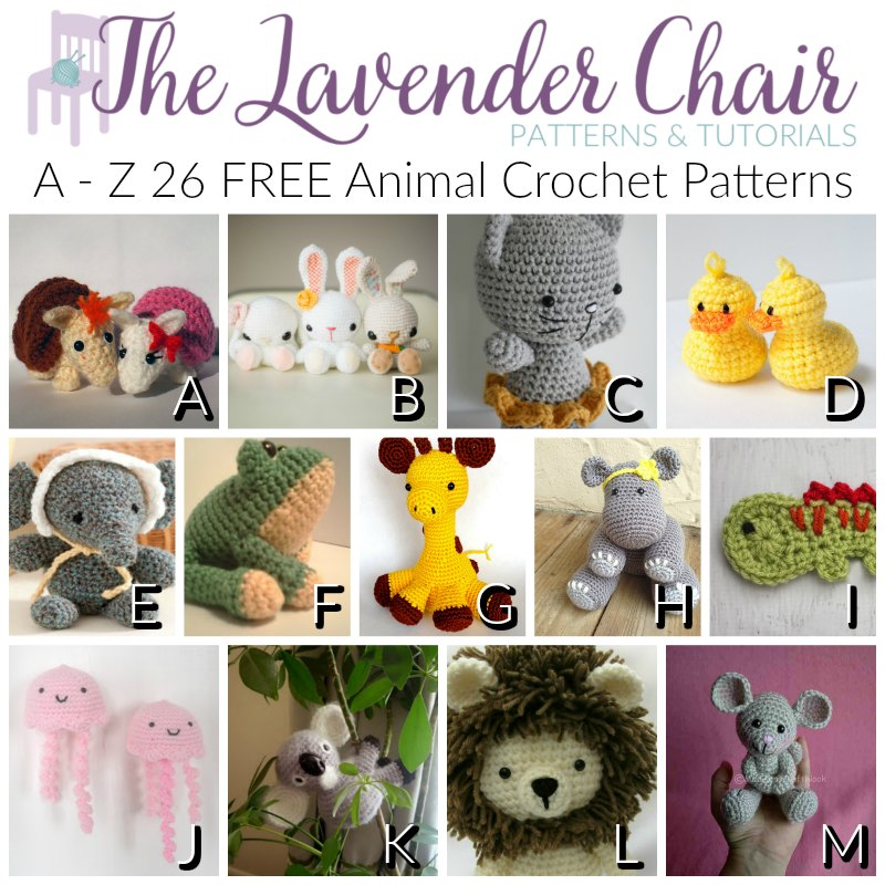 Free tiny crochet animal patterns - Amigurumi Today | 800x800