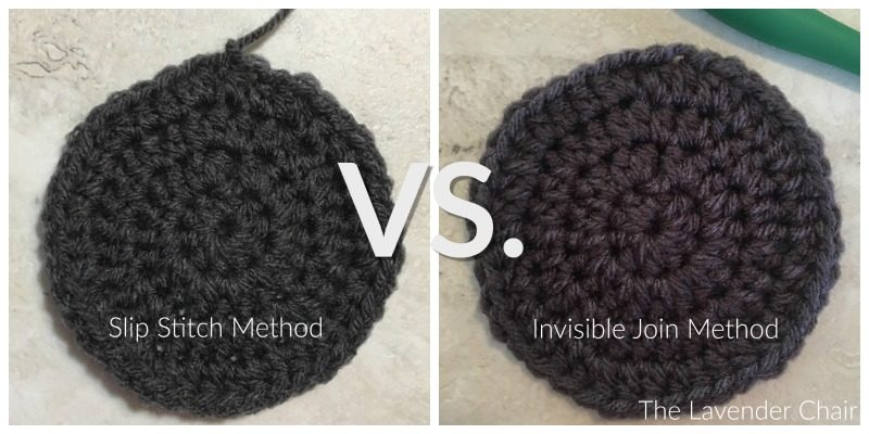 Crochet Tutorial - How to Make the Invisible Join - The Lavender Chair