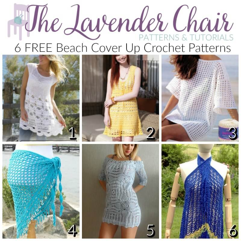 Free Beach Cover Up Crochet Patterns The Lavender Chair