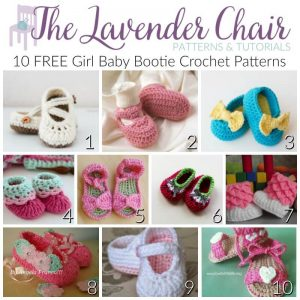 FREE Baby Bootie Crochet Patterns For Girls