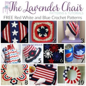 Red White and Blue Crochet Patterns - The Lavender Chair