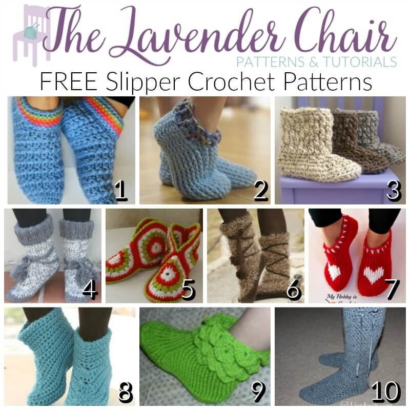 FREE Slipper Crochet Patterns - The