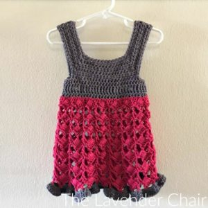 Textured Fan Dress Crochet Pattern