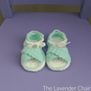Crisscross Baby Sandals Crochet Pattern