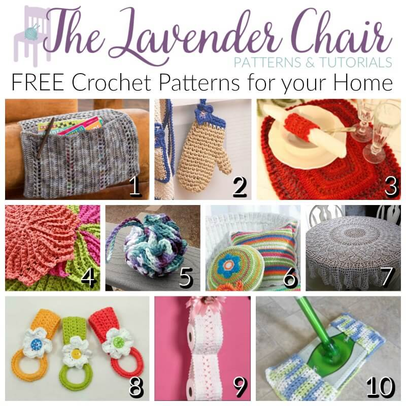 FREE Crochet Patterns For your Home - The Lavender Chair