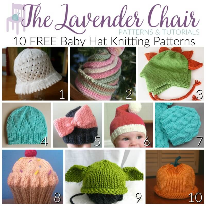 baby hats to knit or crochet free patterns