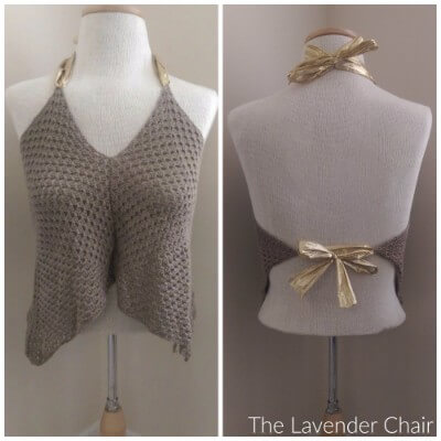 Granny Crop Top - Free Crochet Pattern - The Lavender Chair