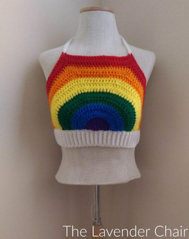 Rainbow Crop Top - Free Crochet Pattern - The Lavender Chair