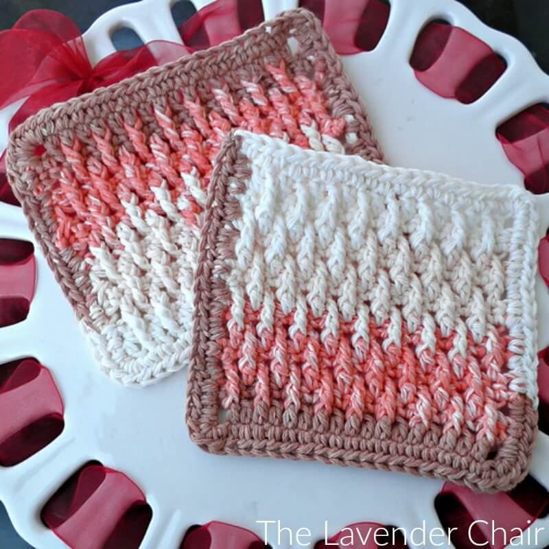 Textured Dishcloth Crochet Pattern The Lavender Chair