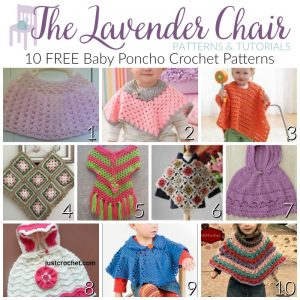 10 FREE Baby Poncho Crochet Patterns