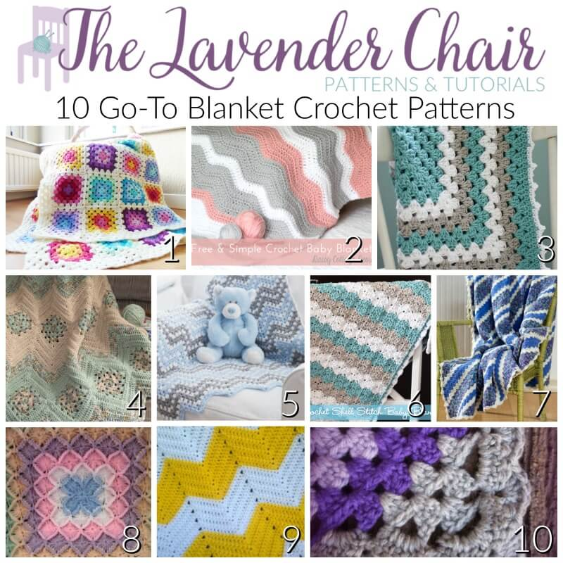 10 Go-To Blanket Crochet Patterns - The Lavender Chair