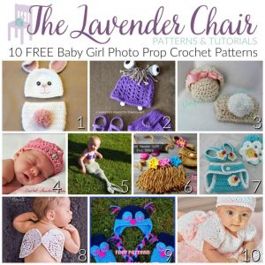 Read more about the article FREE Baby Girl Photo Prop Crochet Patterns