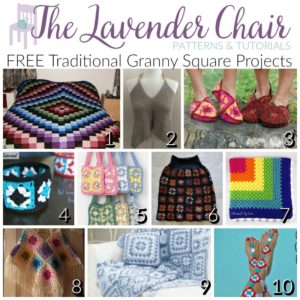 FREE Traditional Granny Square Project Crochet Patterns
