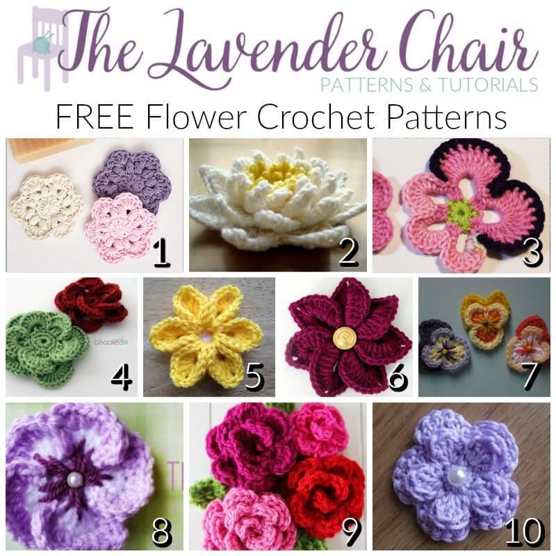Free Flower Crochet Patterns - The Lavender Chair
