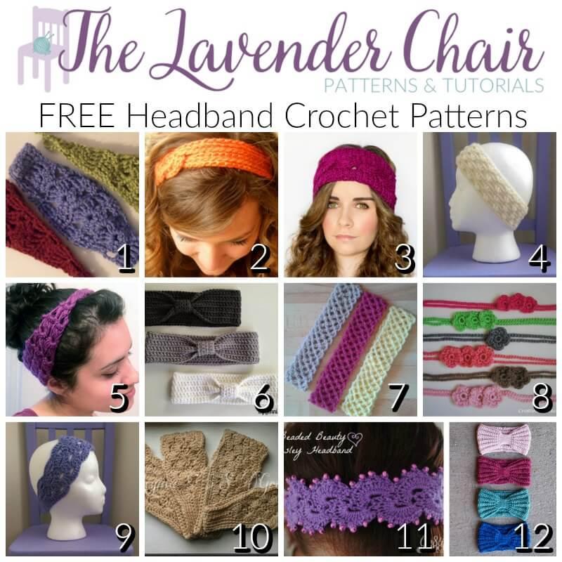 Free Headband Crochet Patterns - The Lavender Chair
