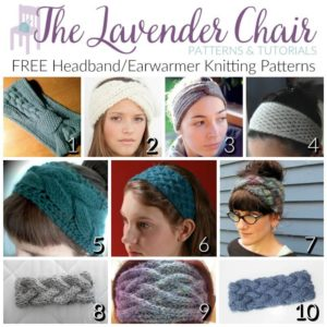FREE Headband/Earwarmer Knitting Patterns