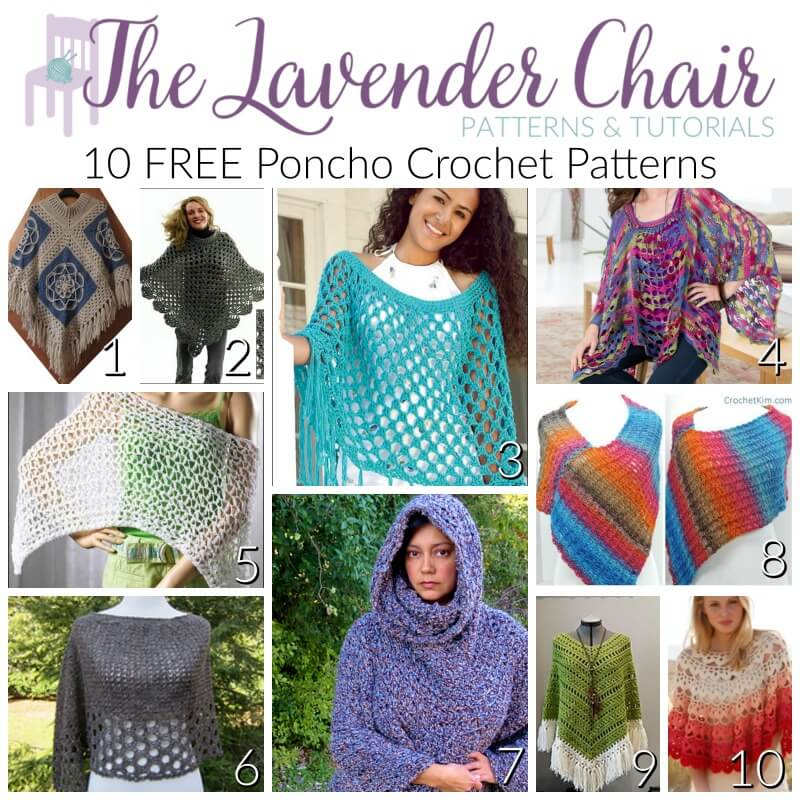 FREE Poncho Crochet Patterns - The Lavender Chair