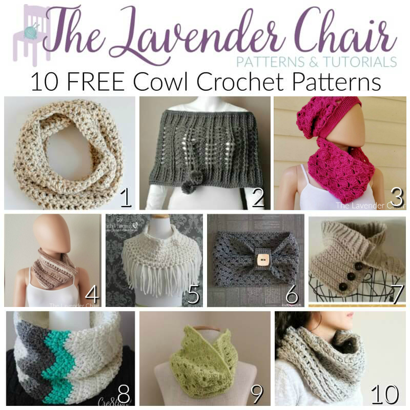FREE Cowl Crochet Patterns - The Lavender Chair