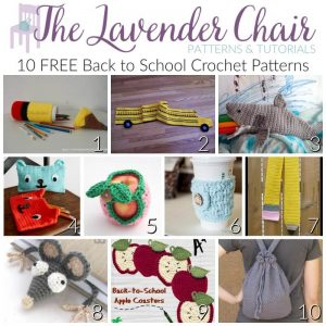 Back to School Crochet Patterns - The Lavender Chair