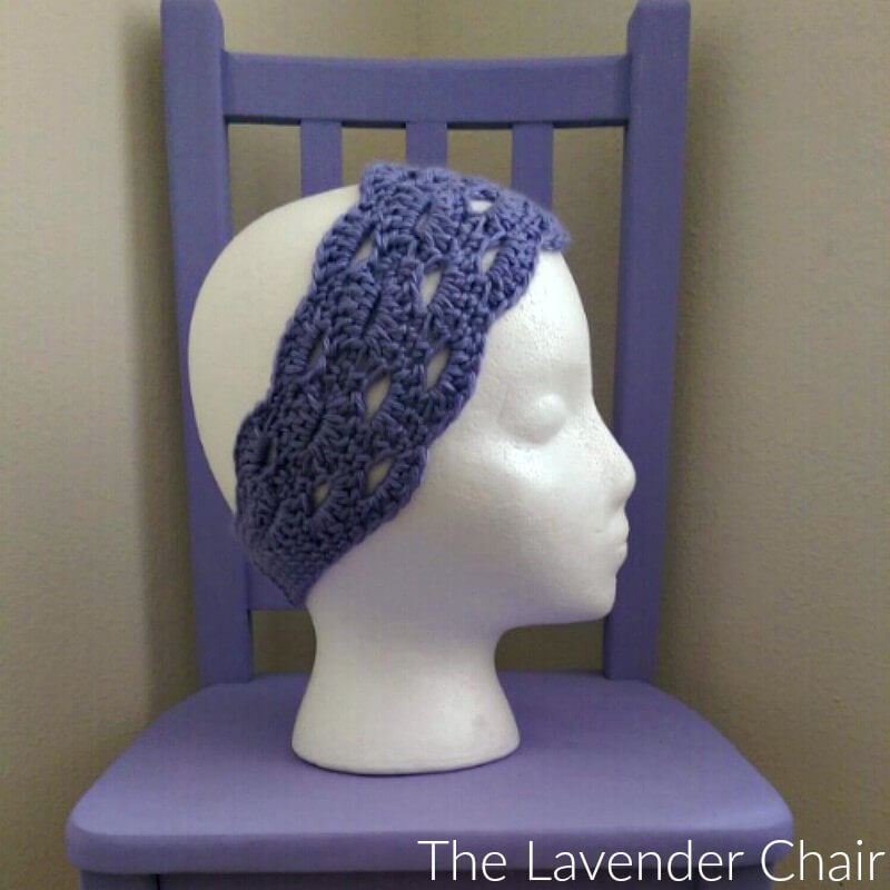 Stacked Shells Headband - Free Crochet Pattern - The Lavender Chair