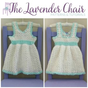 Valerie's First Birthday Dress (0-3 Months) Crochet Pattern