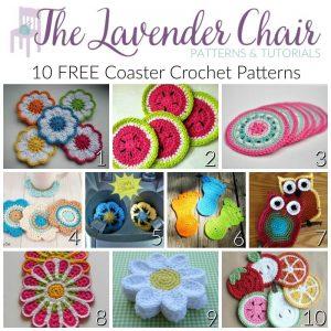 10 FREE Coaster Crochet Patterns