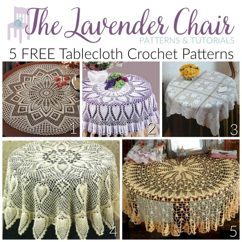 Free Tablecloth Crochet Patterns - The Lavender Chair