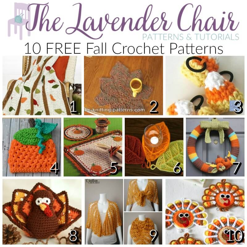 FREE Fall Crochet Patterns - The Lavender Chair