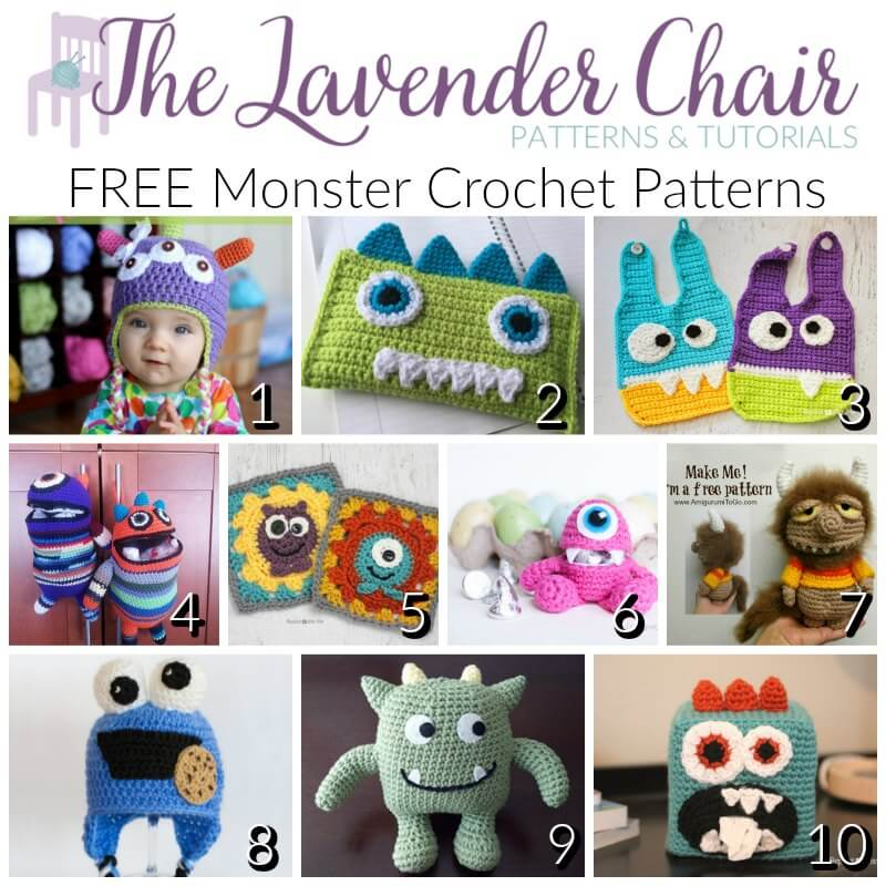 Free Monster Crochet Patterns -The Lavender Chair