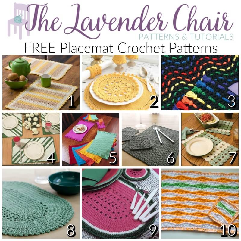 Free Placemat Crochet Patterns - The Lavender Chair