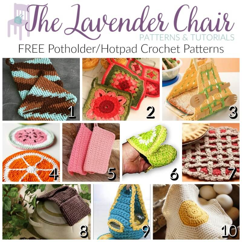 Potholder/Hotpad Crochet Patterns - The Lavender Chair