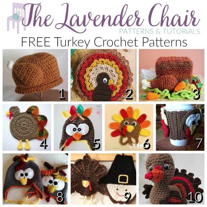 FREE Turkey Crochet Patterns - The Lavender Chair