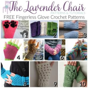 FREE Fingerless Glove Crochet Patterns