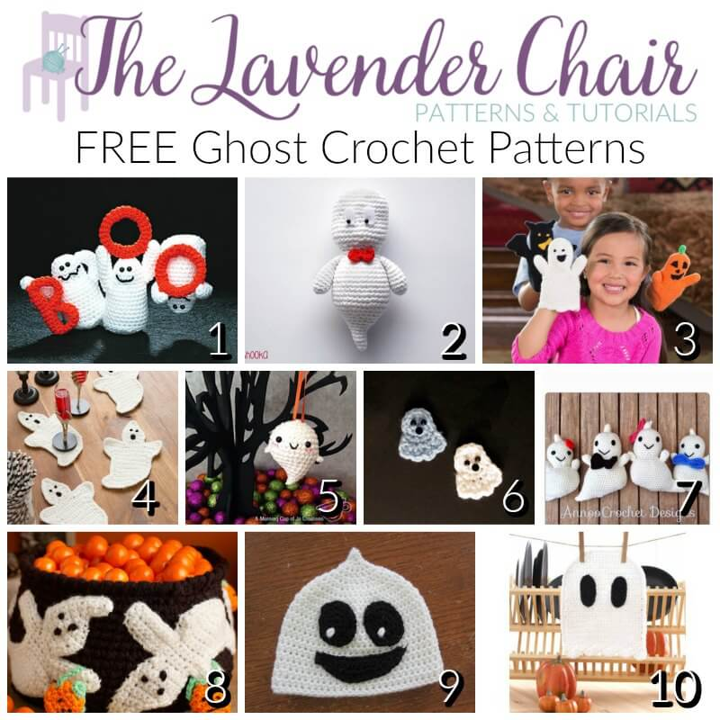 Free Ghost Crochet Patterns - The Lavender Chair