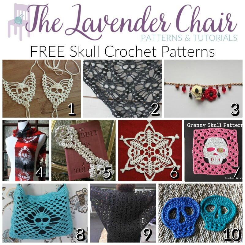 Free Skull Crochet Patterns - The Lavender Chair